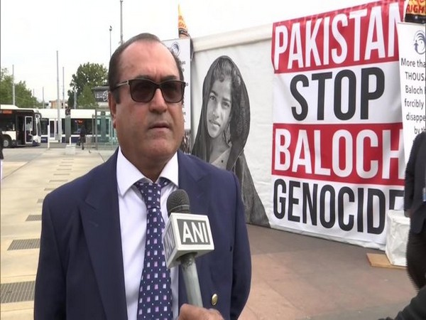 Secretary-General of Baloch Human Rights Council Samad Baloch speaking to ANI