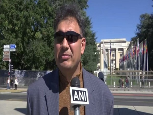 Senge H Sering, a Director at the Institute of Gigit Baltistan Studies in Washington, speaking to ANI