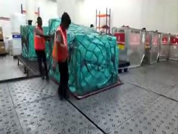 At the Delhi airports' air cargo facility. (Photo/ANI)
