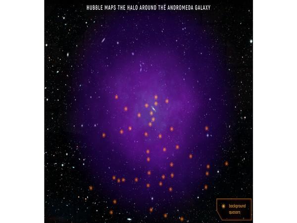 Hubble maps Halo around Andromeda galaxy (Image Crdit (NASA, ESA, and E. Wheatley)