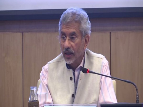 External Affairs Minister S Jaishankar addressing the audience while launching the PhD fellowship programme in New Delhi on Monday. Photo/ANI