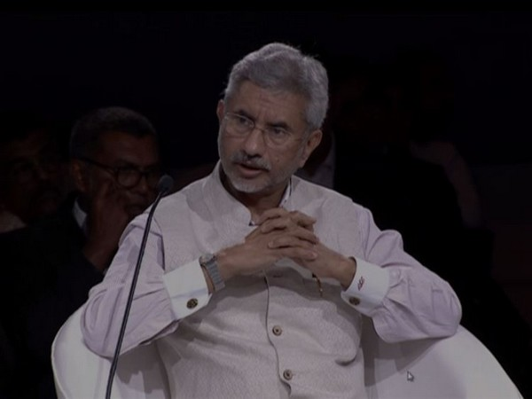External Affairs Minister S Jaishankar at an interactive session of the World Economic Forum in New Delhi on Friday. (Photo/ANI)