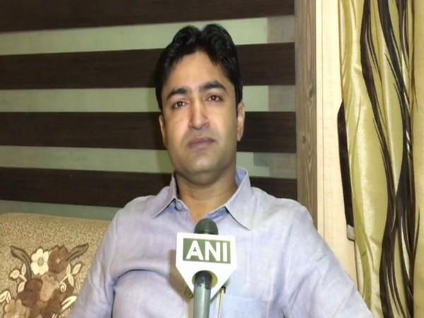 BJP MLA Abhijeet Singh Saang speaking to ANI in Kanpur, Uttar Pradesh on Monday.