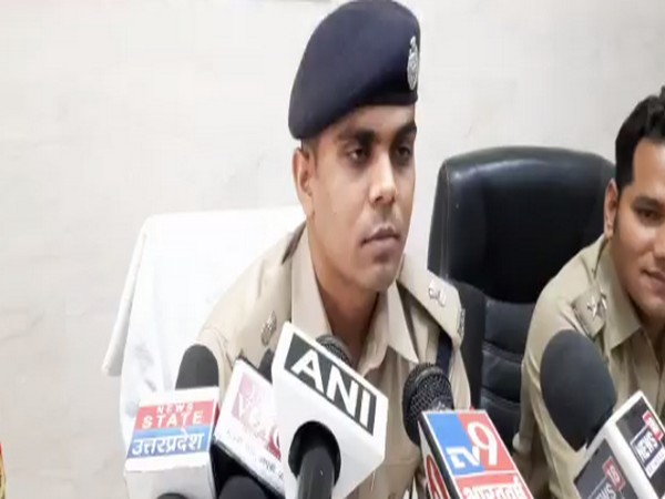 Aligarh SP Shubham Patel speaking to reporters on Saturday.