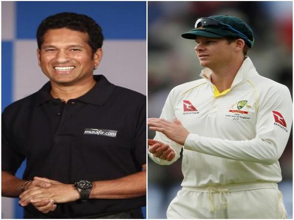 Sachin Tendulkar (L) and Steve Smith (R)