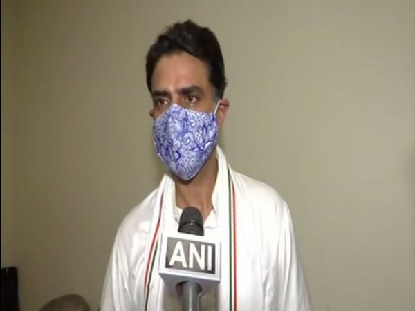 Congress leader Sachin Pilot speaking to ANI on Tuesday. (Photo/ANI)