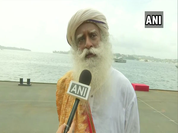 Sadhguru Jaggi Vasudev speaking to ANI at Yoga event in PortBlair on Friday (photo/ANI)