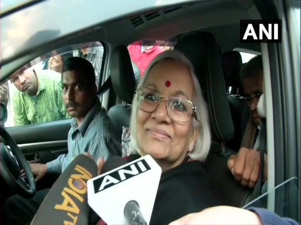 One of the two Supreme Court-appointed mediator Sadhna Ramachandran speaking to reporters on Thursday. Photo/ANI