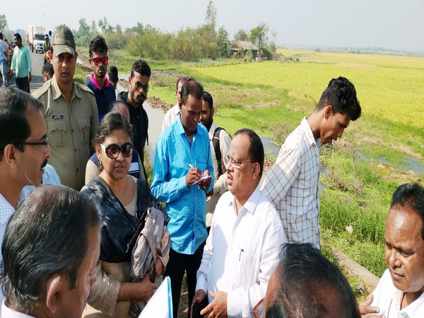 Seven member central team led by Joint Secretary (CIC), Ministry of Home Affairs, Saheli Ghosh Roy visits flood-affected areas in Odisha