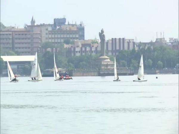 Hussain Sagar Lake ahead of the Hyderabad sailing week. Photo/ANI