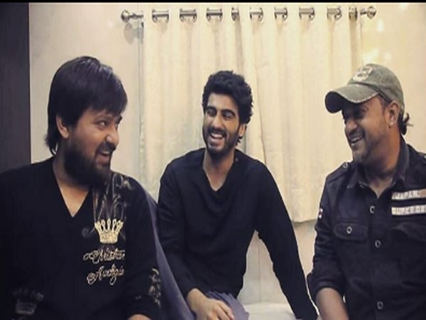 Actor Arjun Kapoor with music composers Sajid-Wajid (Image Source: Instagram)
