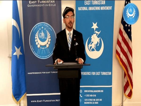 Prime Minister Salih Hudayar on behalf of the East Turkistan Government-in-Exile (Photo Credit: ETGE)