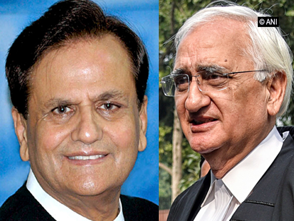 Late Ahmed Patel (Left) and Senior Congress leader Salman Khurshid (Photo/ANI)