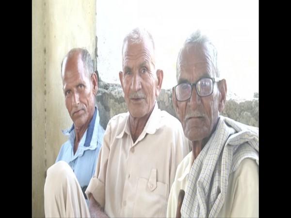 Locals of a village in Samba district of Jammu and Kashmir