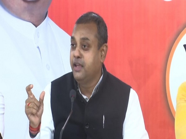 BJP spokesperson Sambit Patra addressing a press conference in Hyderabad on Saturday. Photo/ANI