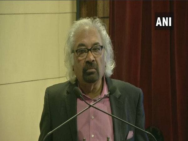 Indian Overseas Congress chief Sam Pitroda speaking at an event in New Delhi on Saturday. Photo/ANI