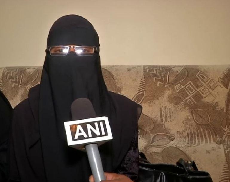 Sana Tabassum speaking to ANI in Hyderabad on Saturday. Photo/ANI