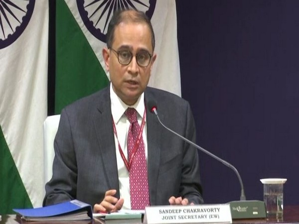 Joint Secretary Europe West Sandeep Chakravorty speaking in a virtual press briefing after the conclusion of India-Luxembourg virtual bilateral summit