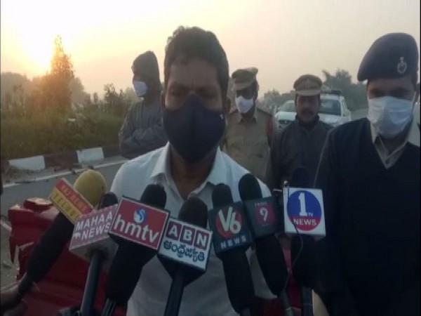 Chandra Shekar Reddy, SP of Sangareddy addresses the media