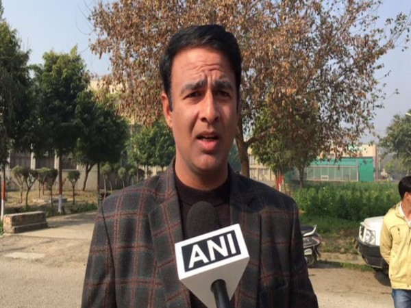 BJP leader Sangeet Som speaking to ANI in Meerut on Monday. Photo/ANI