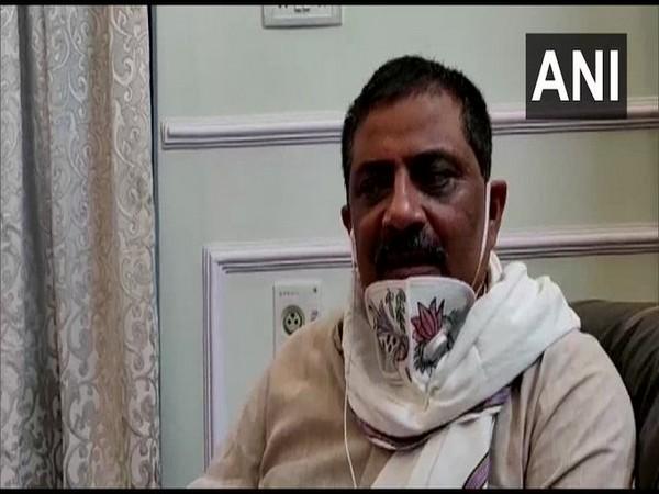 Bihar Minister Sanjay Jha speaking to ANI on Monday. (Photo/ANI)