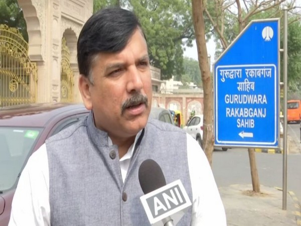 AAP leader Sanjay Singh speaking to ANI in New Delhi on Friday. Photo/ANI