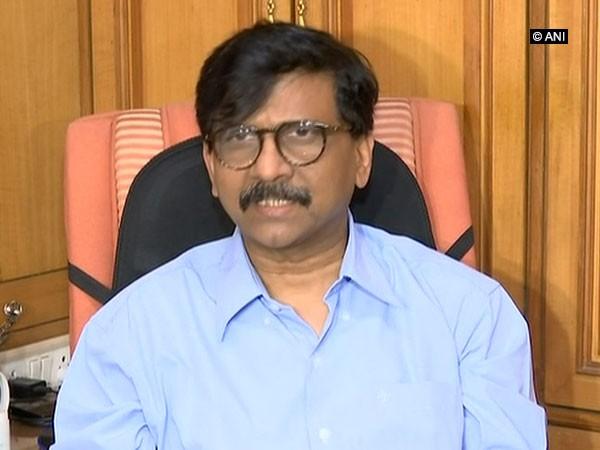 Shiv Sena MP Sanjay Raut speaking to media in Mumbai on Tuesday.