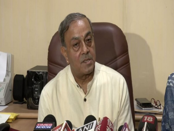 Congress RS MP Sanjay Singh announcing resignation from party on Tuesday.