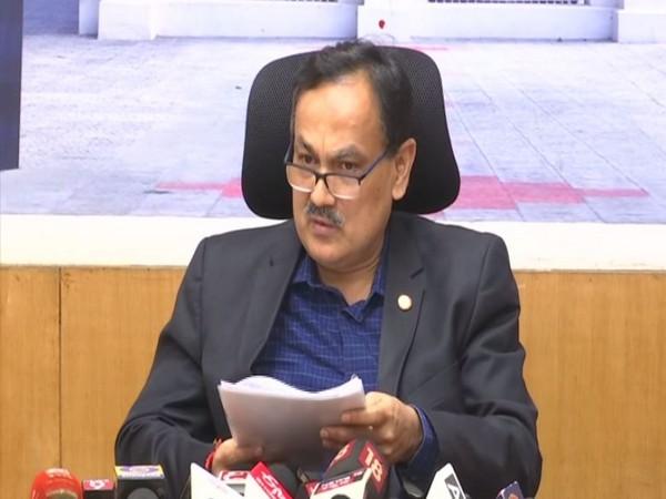 Chief Electoral Officer (CEO) Karnataka, Sanjeev Kumar speaking at a press conference in Bengaluru on Sunday. Photo/ANI