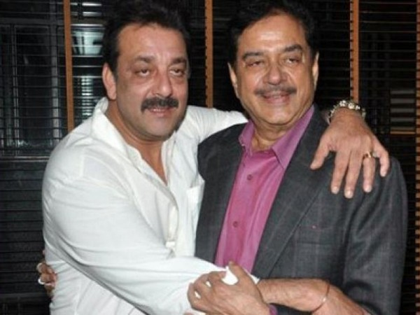 Bollywood actors Sanjay Dutt and Shatrughan Sinha (Image source: Twitter)