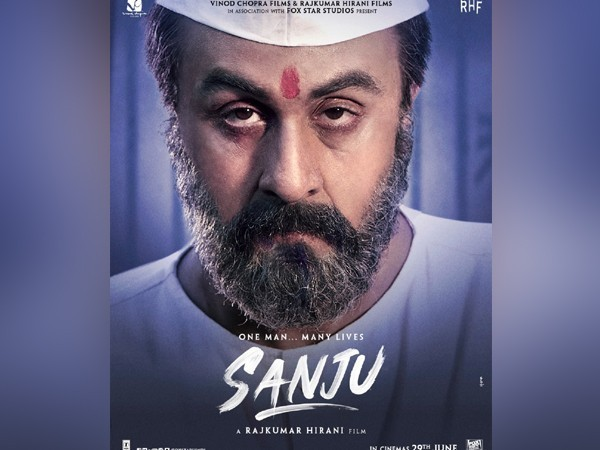 Film poster of Bollywood biopic Sanju