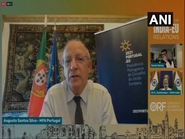 """Portuguese Foreign Minister Augusto Santos Silva speaking during a session at the Observer Research Foundation (ORF) on the """"Future of India-EU relations"""" (ANI)"""