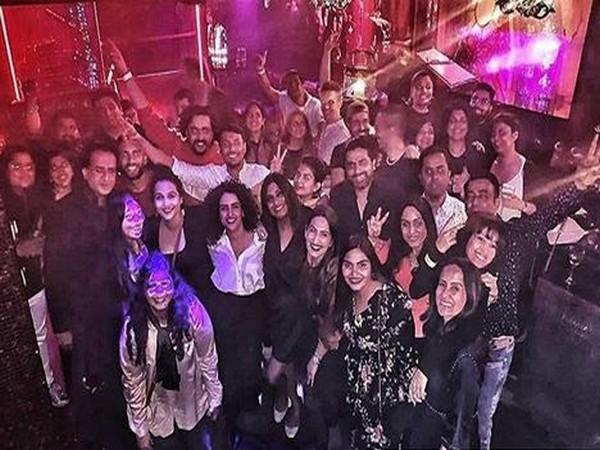 Sanya Malhotra with 'Shakuntala Devi- Human Computer' team (Image Courtesy: Instagram)