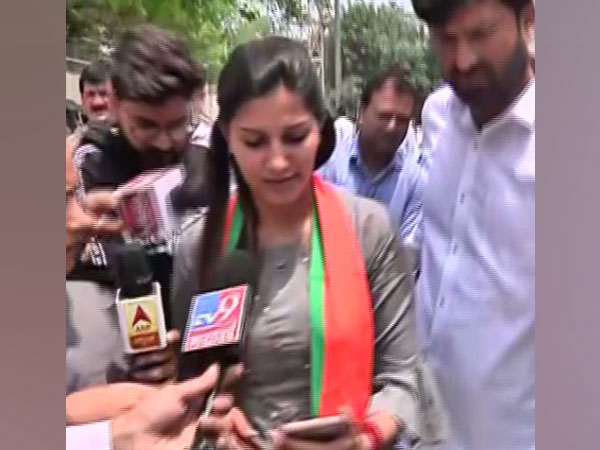 Newly inducted member of BJP Sapna Choudhary while speaking to media persons in New Delhi on Sunday. Photo/ANI