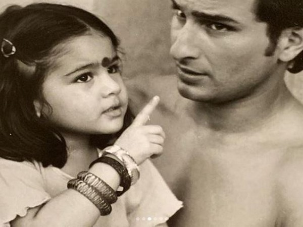 Sara Ali Khan and father Saif Ali Khan (Image courtesy: Instagram)