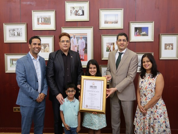 Sara Chhipa felicitated by the Consulate General of India in Dubai
