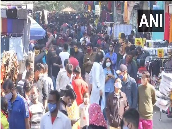 Overcrowded Sarojini Nagar Market even as COVID-19 cases rise in some parts of the country. (File Photo)