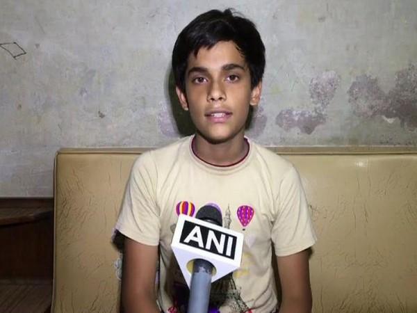 Sarthak Tripathi, son of former employee of UPSE, talking to ANI in Kanpur on Friday. Photo/ANI