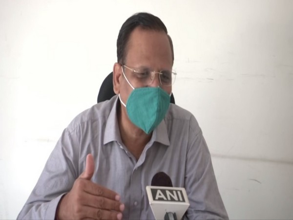 Delhi Health Minister Satyendar Jain speaking to ANI on Tuesday. [Photo/ANI]