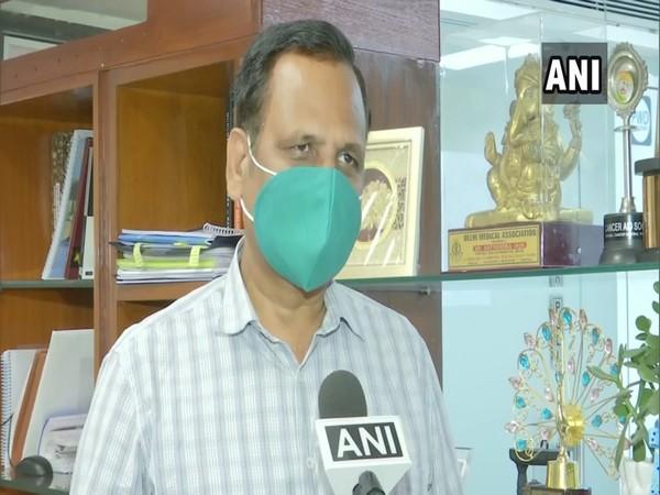 Delhi Health Minister Satyendar Jain speaking to ANI on Friday. Photo/ANI