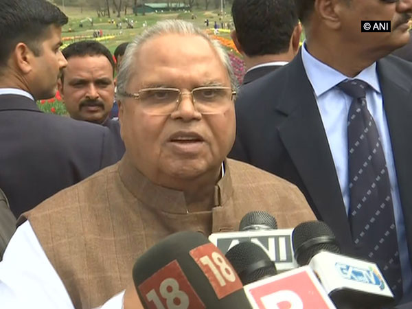 J-K Governor Satyapal Malik at Srinagar. Photo/ANI