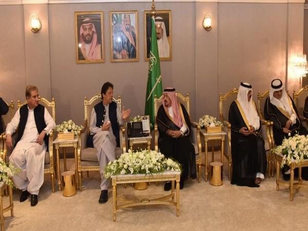 Pakistan Prime Minister Imran Khan and Saudi King Salman holding talks in Riyadh last year.