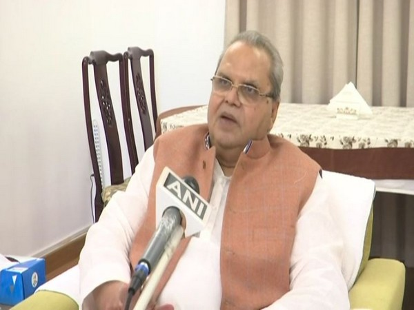 Goa Governor Satya Pal Malik speaking to ANI on Thursday in Panaji. Photo/ANI