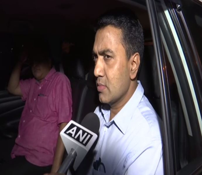 Goa Chief Minister Pramod Sawant while speaking to ANI on Friday in New Delhi. (Photo/ANI)