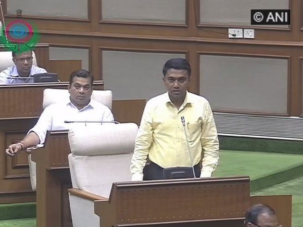 Goa Chief Minister Pramod Sawant speaking before the floor test in Goa assembly on Wednesday.