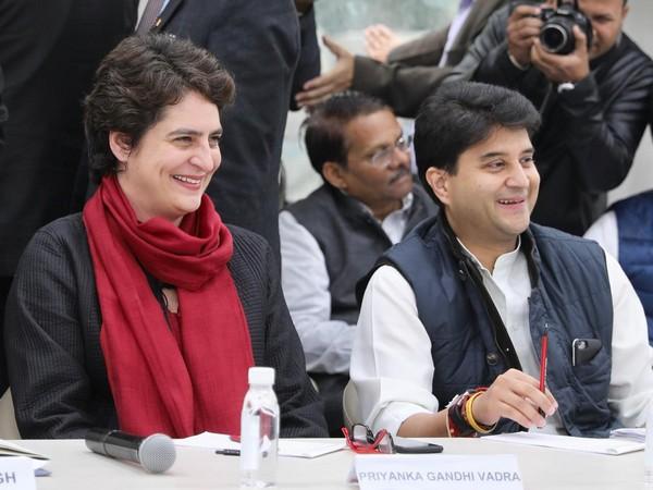 Priyanka Gandhi and Jyotiraditya Scindia. (File Image)