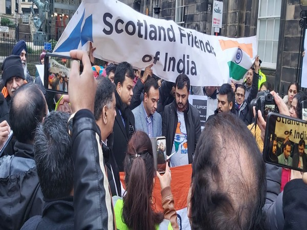 Scottish rights group hold demonstration in support of CAA in Edinburgh