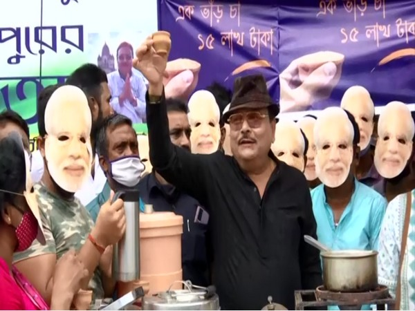 Visuals from the protest in Kolkata.