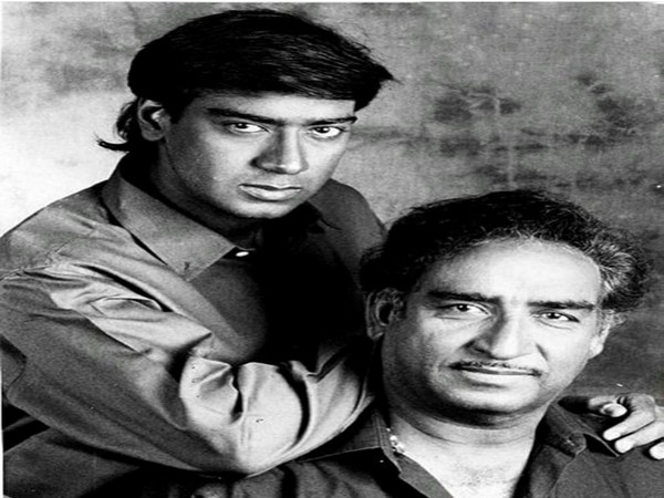 Ajay Devgn with his late father (Image source: Instagram)