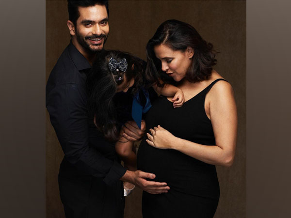 Neha Dhupia and Angad Bedi with their daughter Mehr (Image source: Instagram)